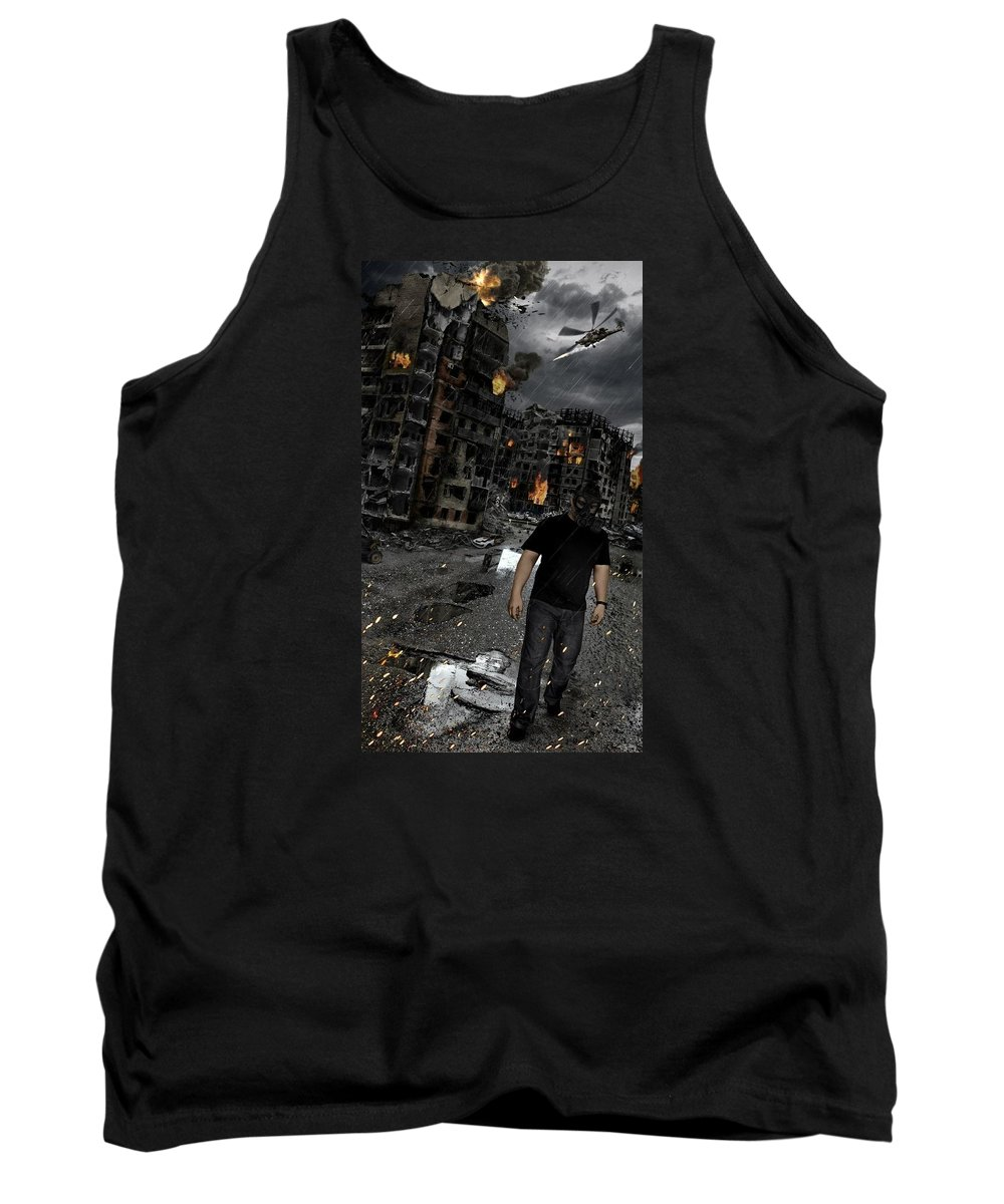 Cataclysm Tank Top featuring the digital art Belovo 9 by Anton Herzog