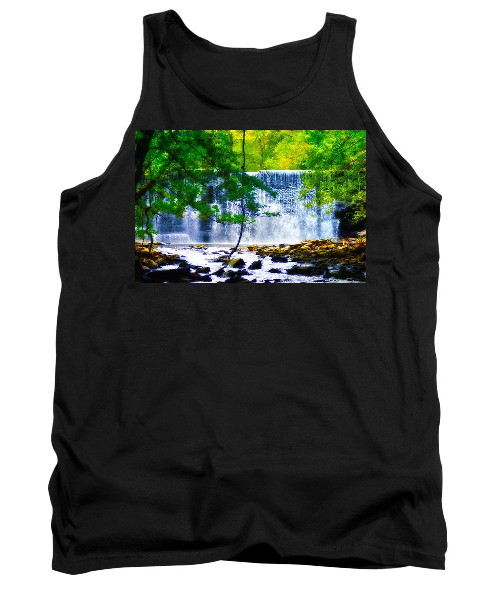 Waterfall Tank Top featuring the photograph Below The Waterfall by Bill Cannon