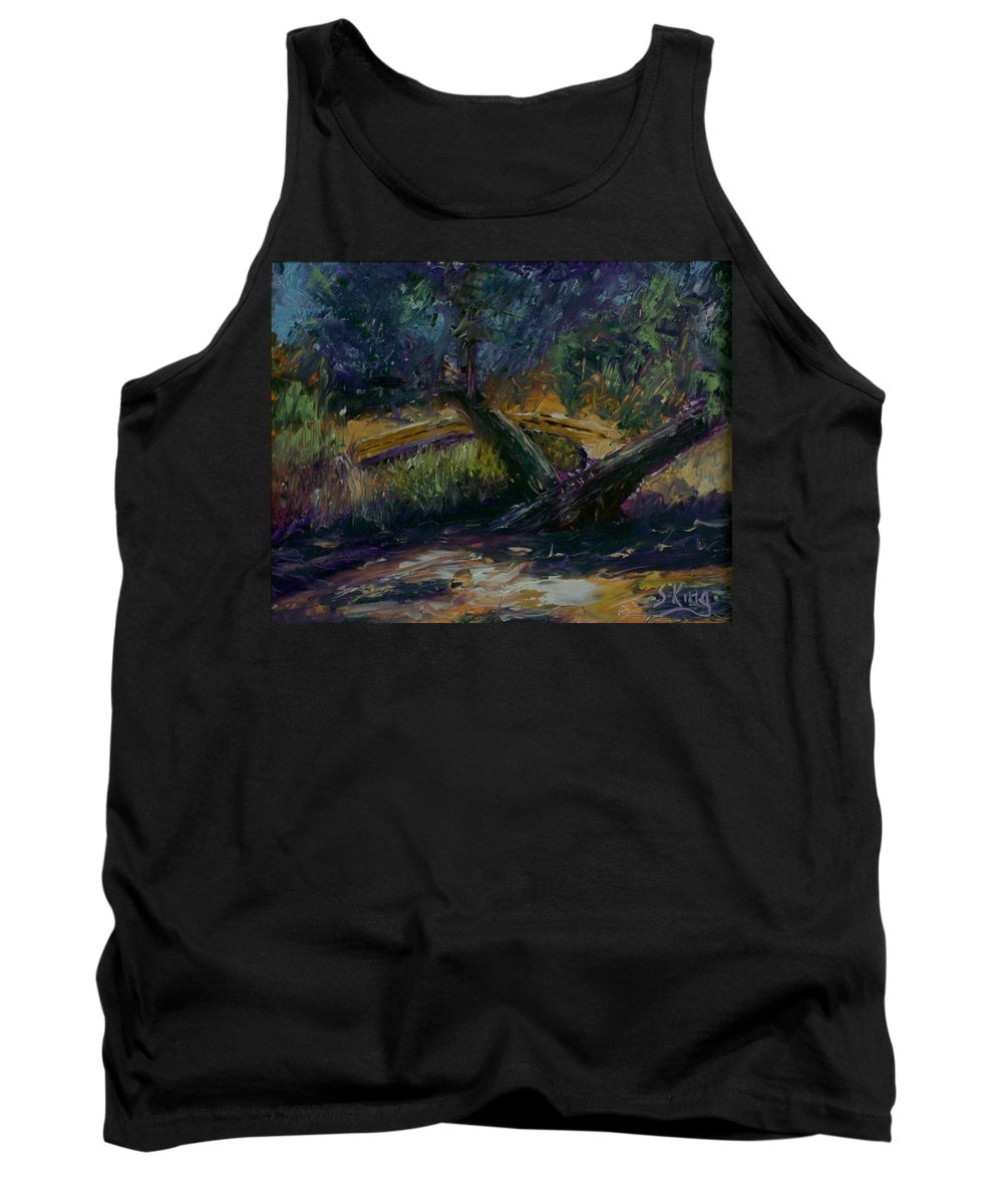 Landscape Tank Top featuring the painting Bent Tree by Stephen King