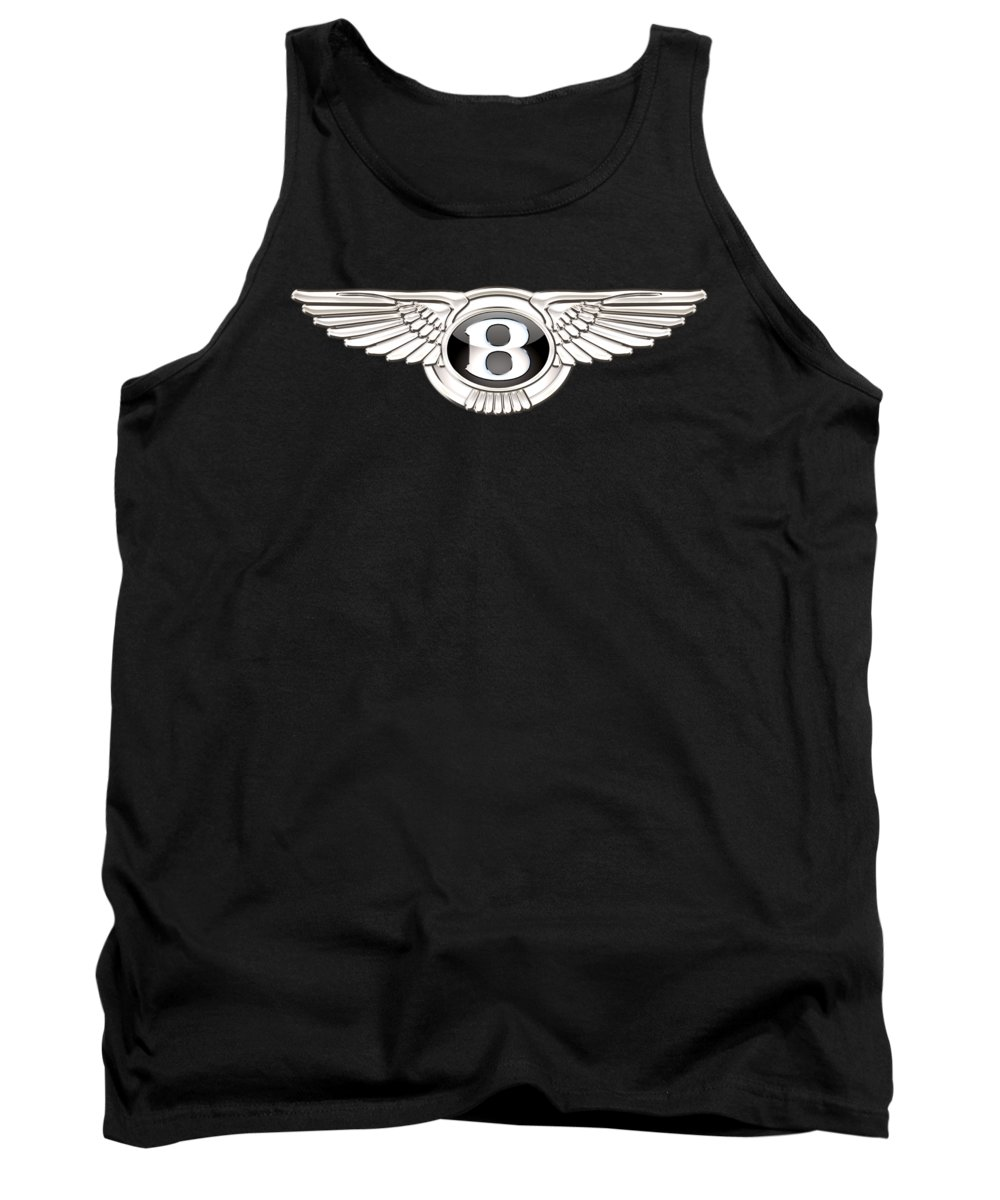 'wheels Of Fortune' By Serge Averbukh Tank Top featuring the photograph Bentley - 3 D Badge On Black by Serge Averbukh