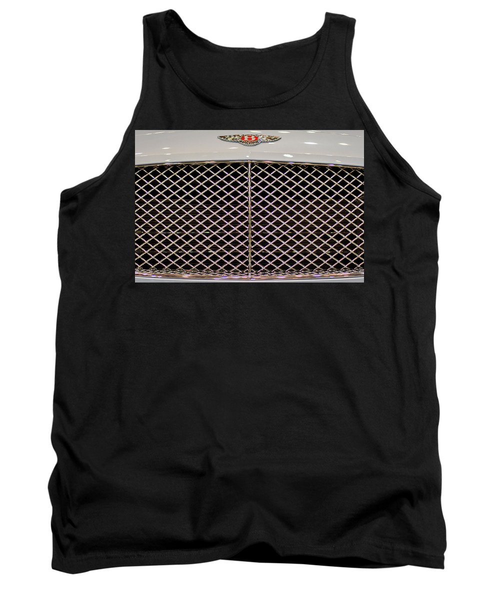 Bentley Tank Top featuring the photograph Bentley Grille And Insignia by Stuart Litoff