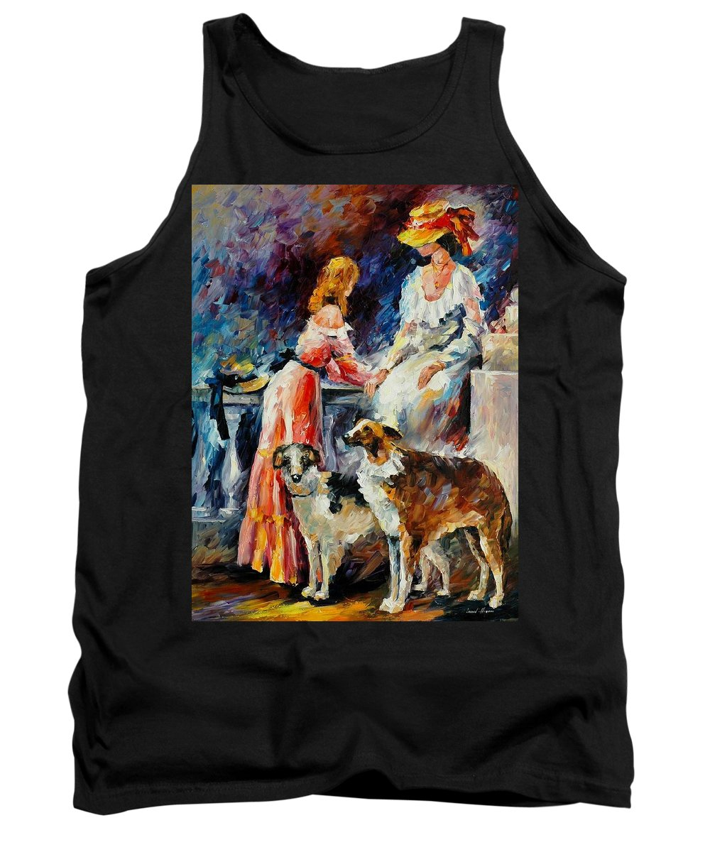 Afremov Tank Top featuring the painting Best Friends by Leonid Afremov