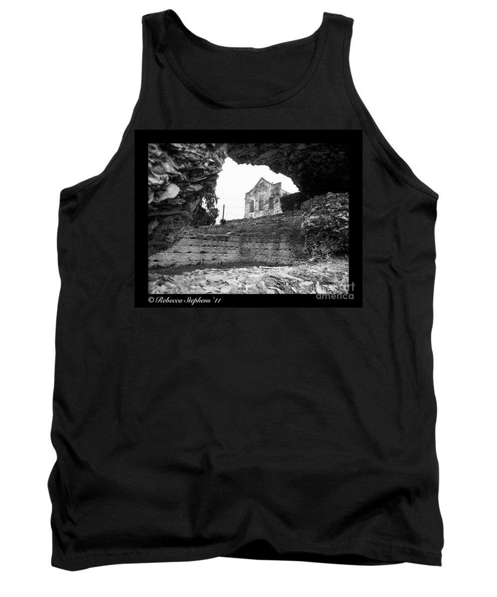 Tabby Ruins Tank Top featuring the photograph Beware The Warehouse by Rebecca Stephens