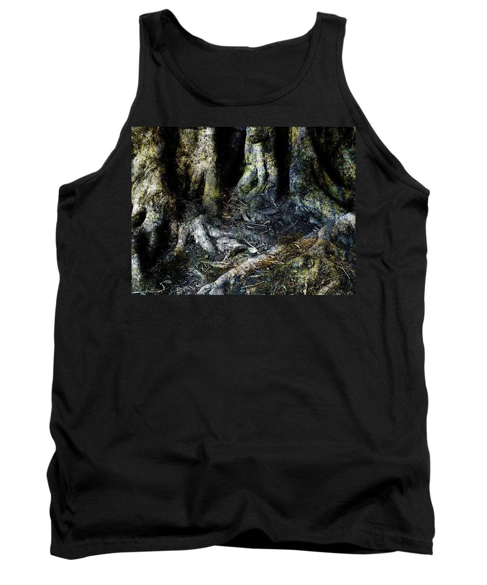Tree Tank Top featuring the photograph Beyond The Forest Edge by Kelly Jade King