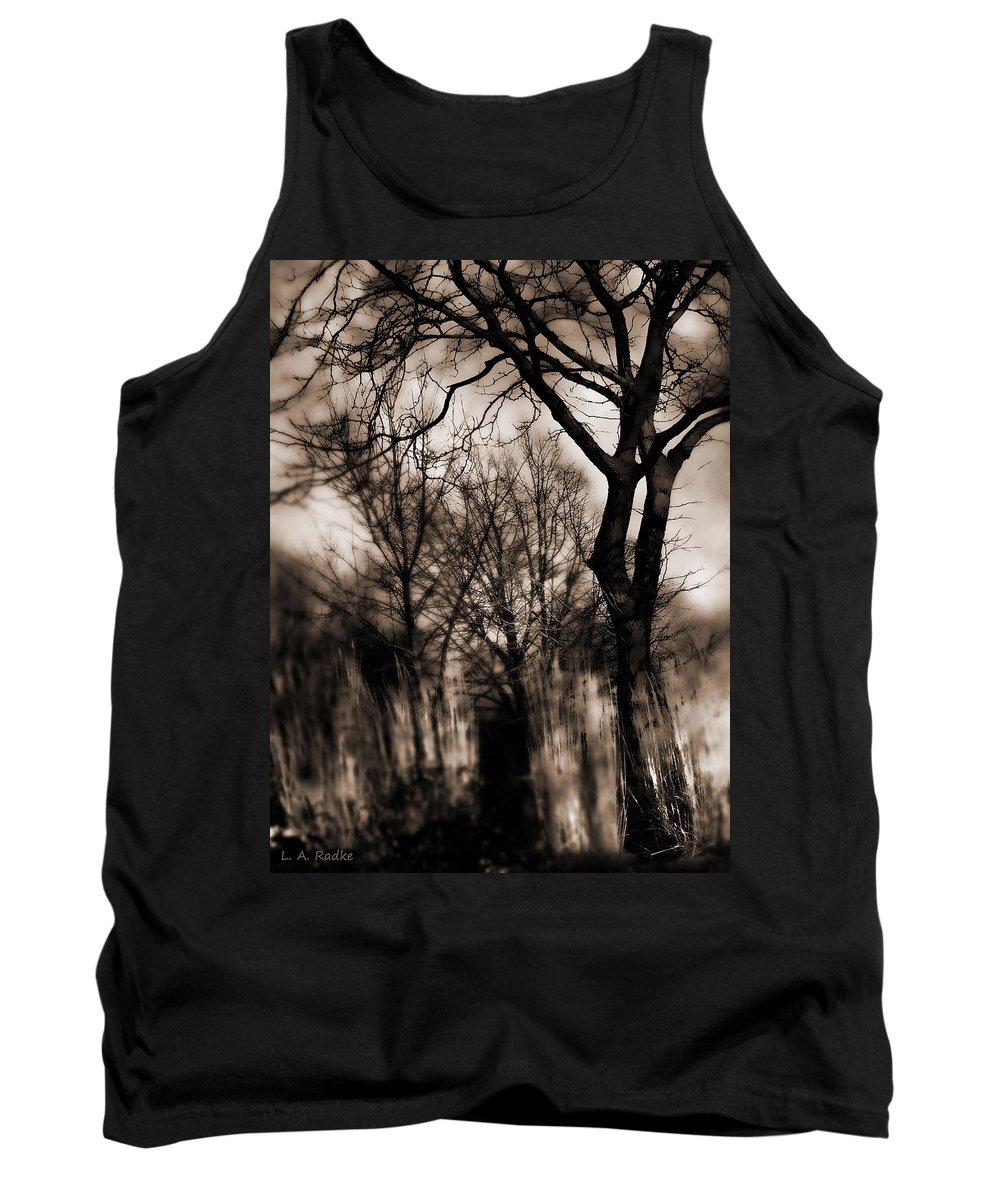 Tree Tank Top featuring the photograph Beyond Twilight by Lauren Radke