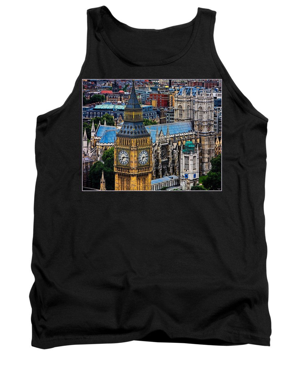 Big Ben Tank Top featuring the photograph Big Ben And Westminster Abbey by Chris Lord