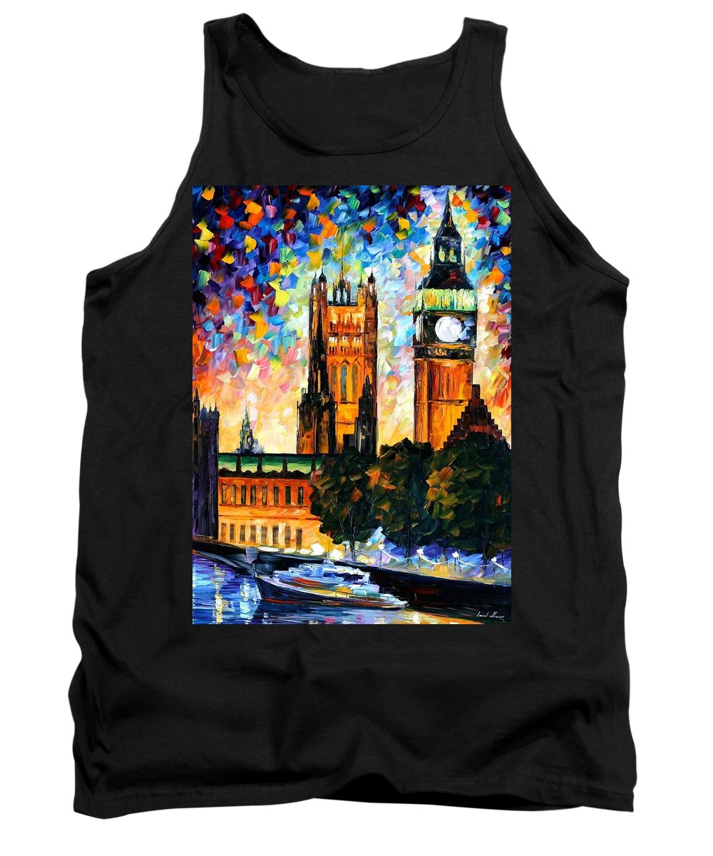 Afremov Tank Top featuring the painting Big Ben by Leonid Afremov