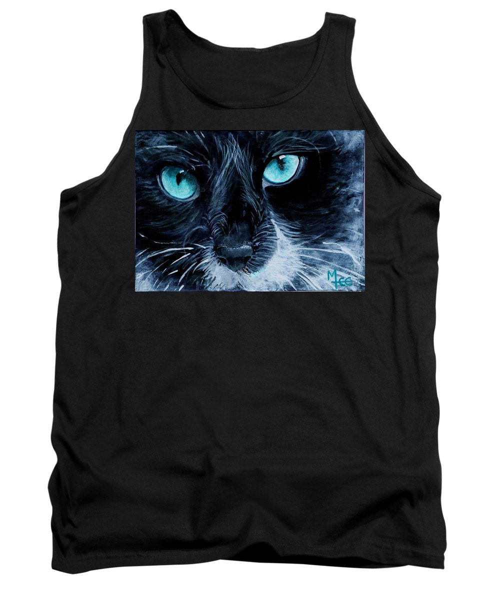 Charity Tank Top featuring the painting Big Blue by Mary-Lee Sanders
