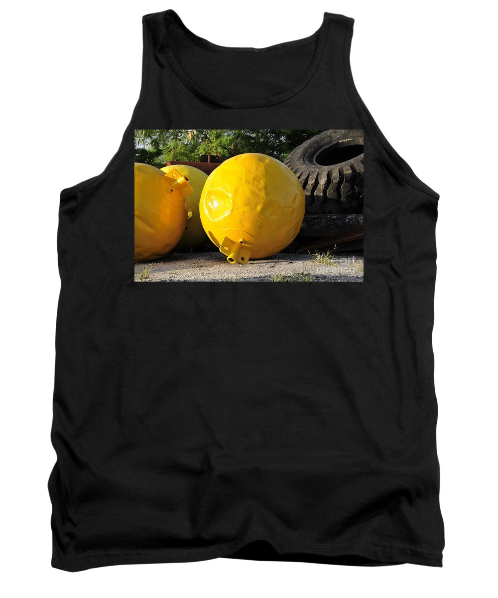 Yellow Tank Top featuring the photograph Big Yellow Balls by David Lee Thompson