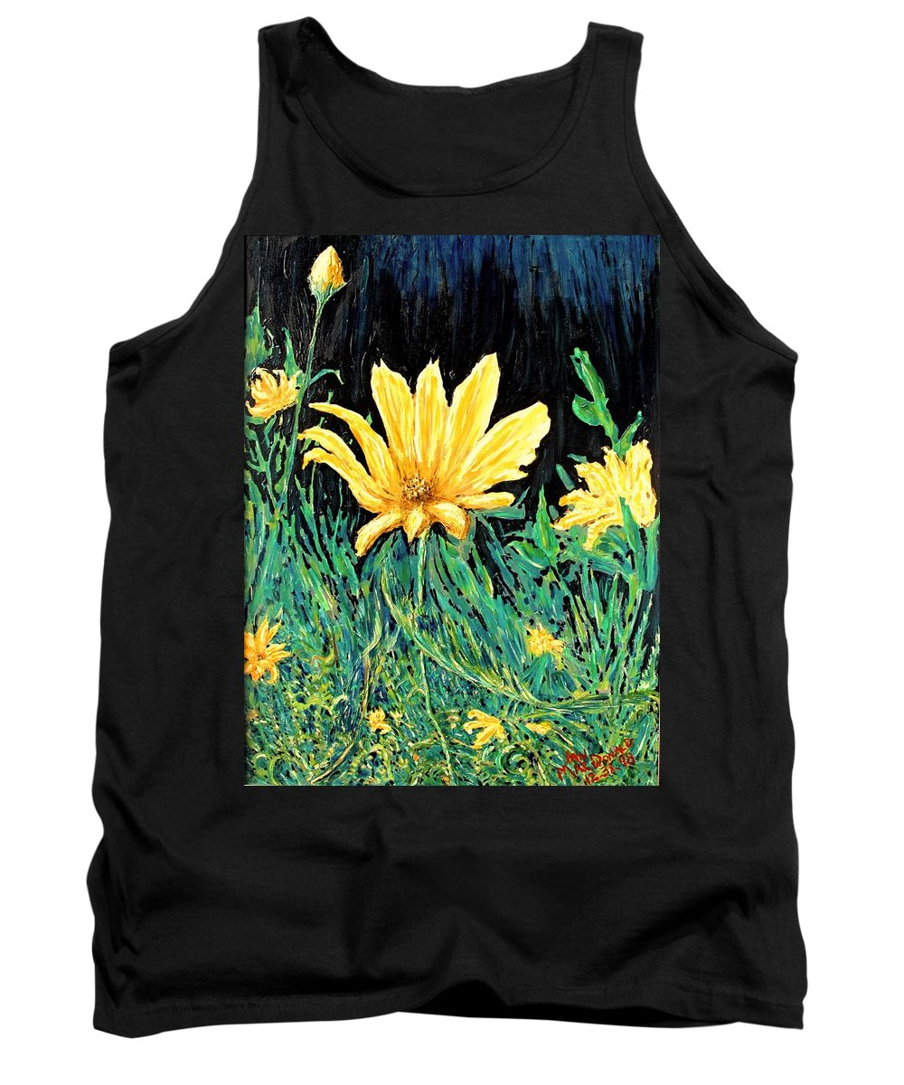 Flower Tank Top featuring the painting Big Yellow by Ian MacDonald