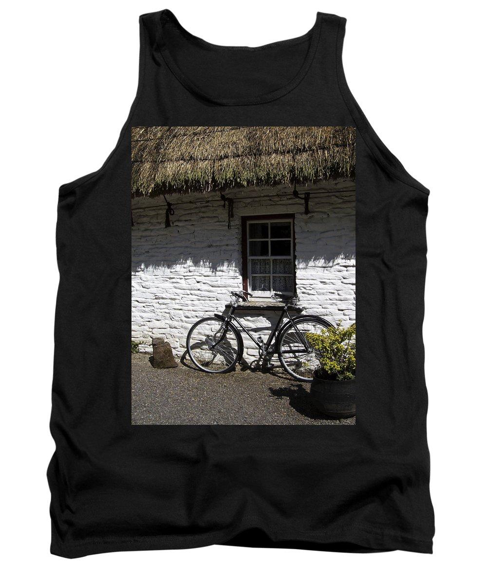 Irish Tank Top featuring the photograph Bike At The Window County Clare Ireland by Teresa Mucha