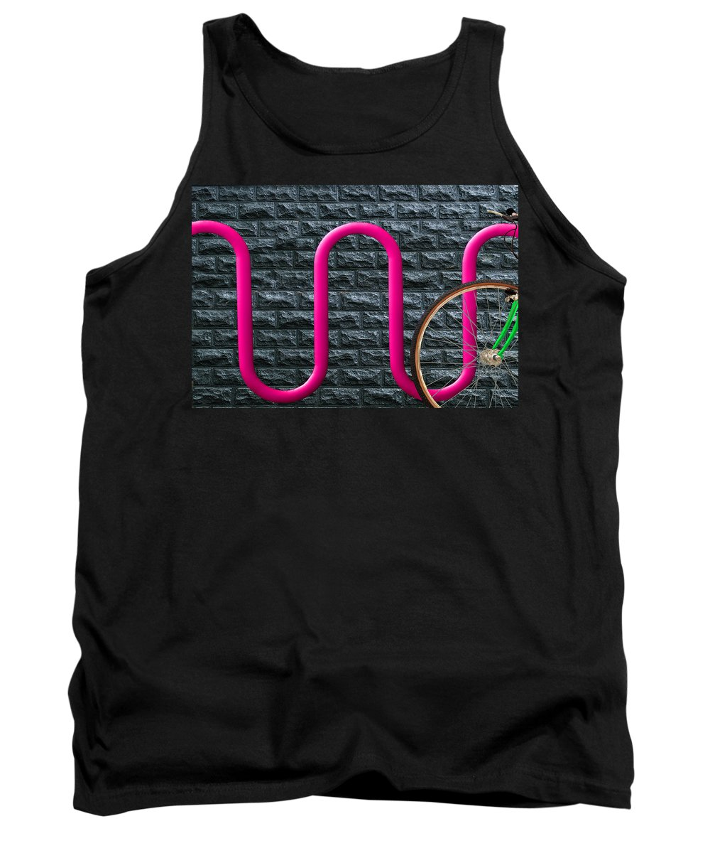 Bike Rack Tank Top featuring the photograph Bike Rack by Paul Wear