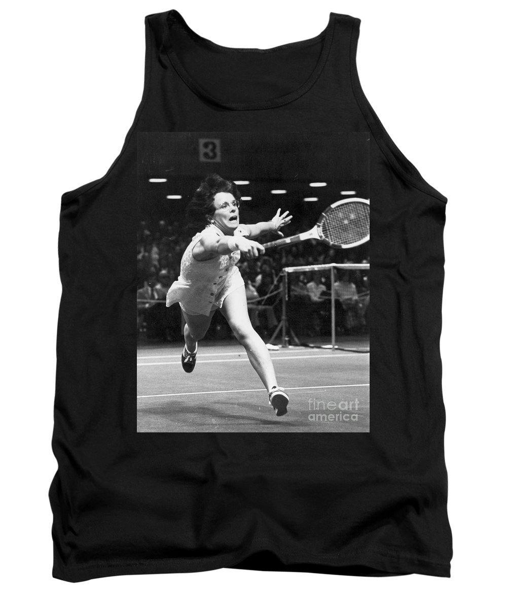 1974 Tank Top featuring the photograph Billie Jean King by Granger