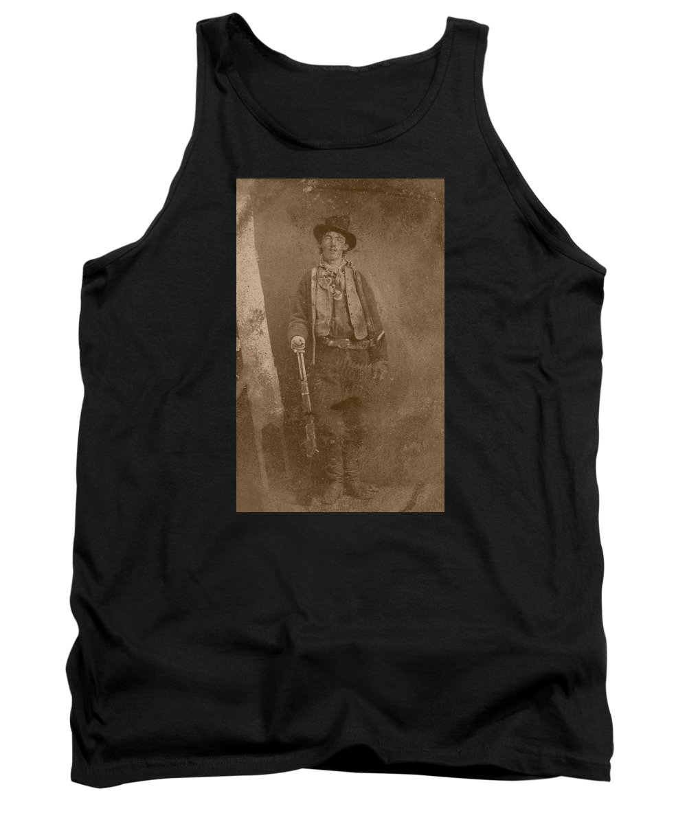 Billy The Kid Tank Top featuring the photograph Billy The Kid by War Is Hell Store