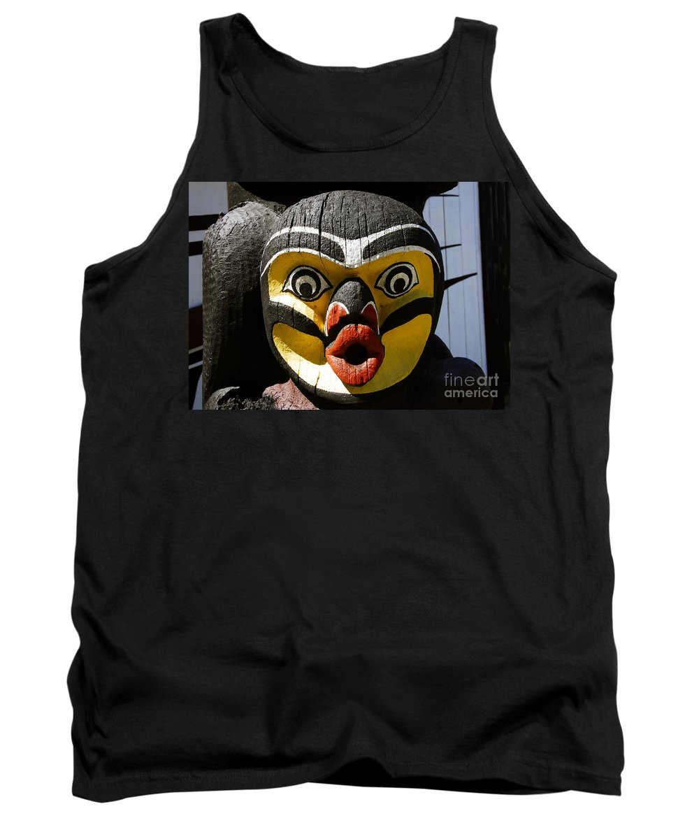 Totem Tank Top featuring the photograph Bird Man by David Lee Thompson