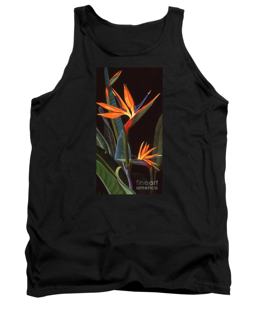 Flower Tank Top featuring the painting Bird Of Paradise by Susan Jump