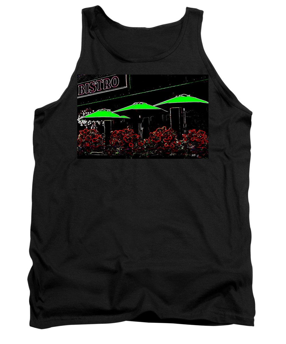 Abstract Tank Top featuring the digital art Bistro by Will Borden
