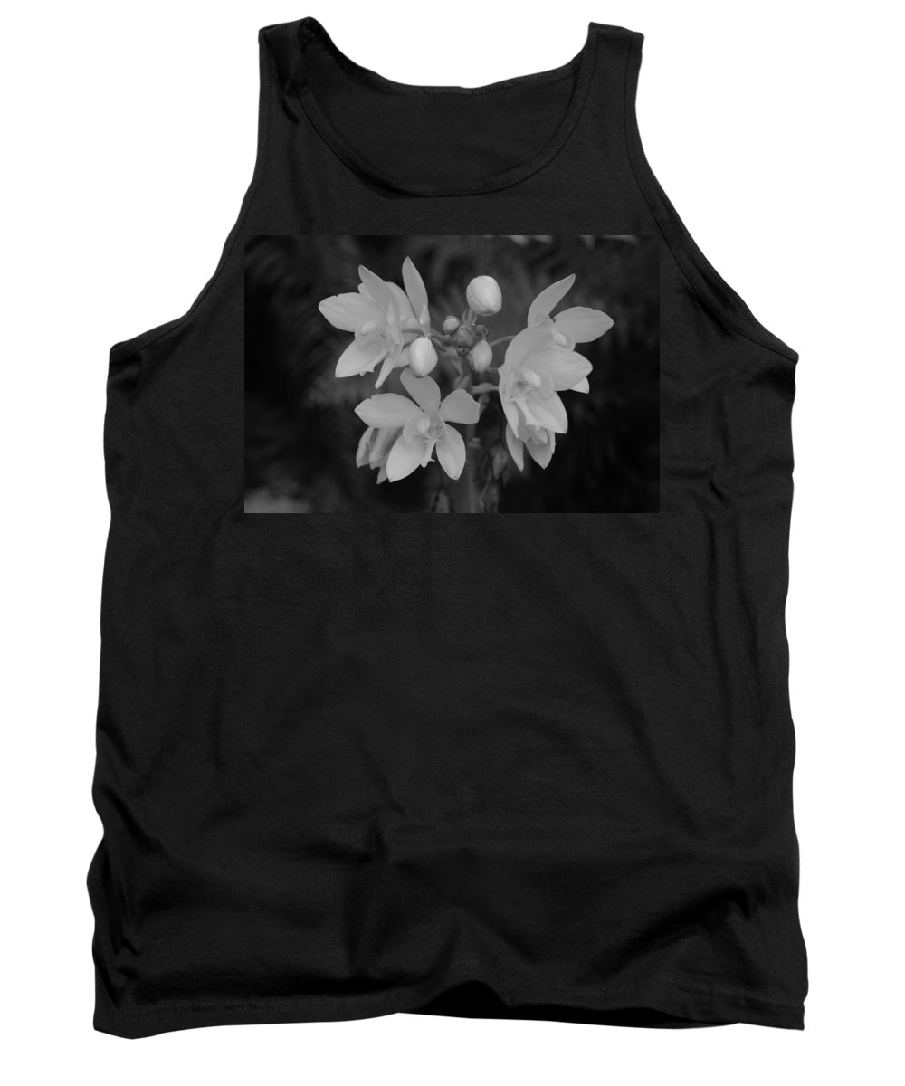 Macro Tank Top featuring the photograph Black And White Flower by Rob Hans