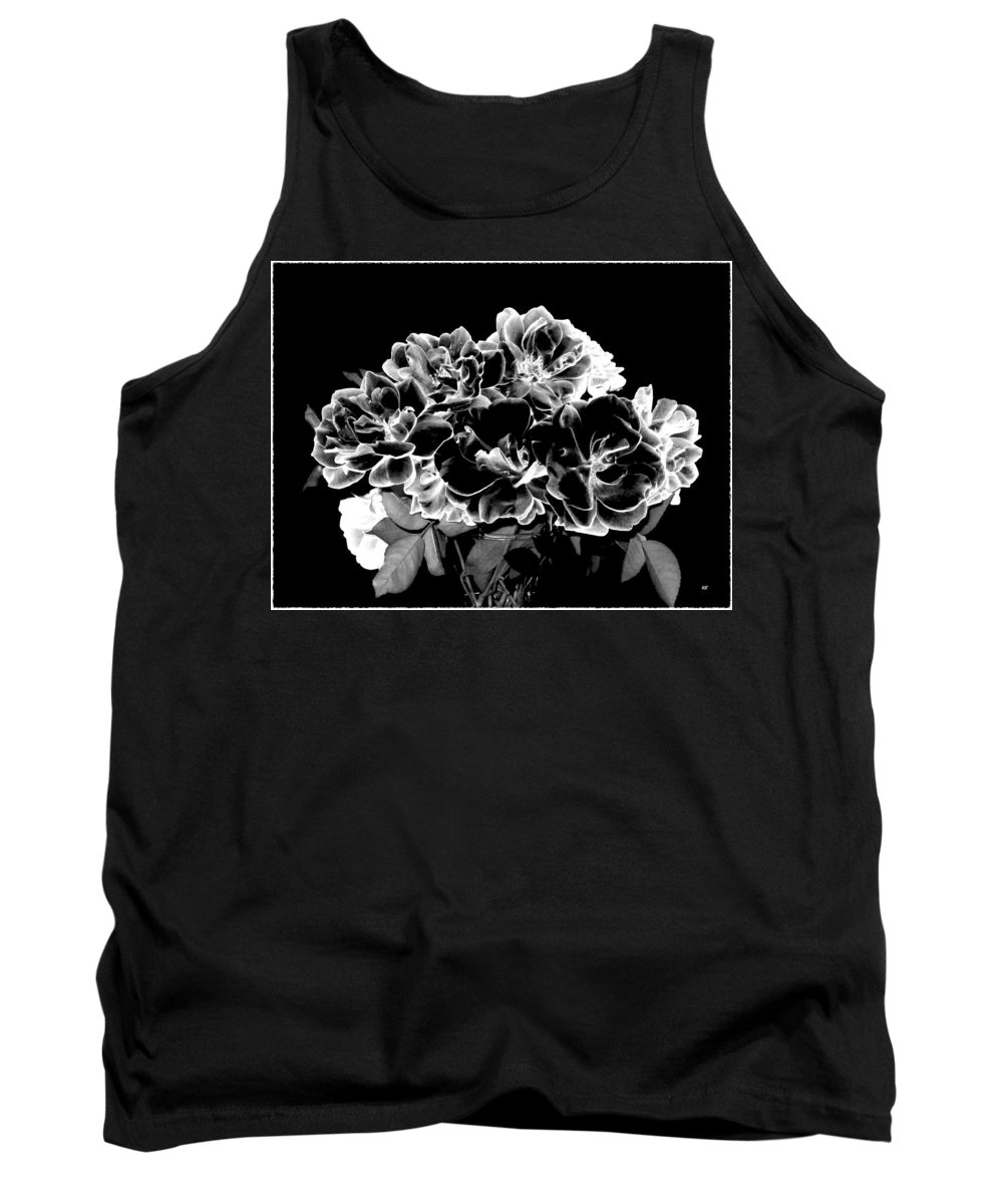 Roses Tank Top featuring the digital art Black And White Roses by Will Borden