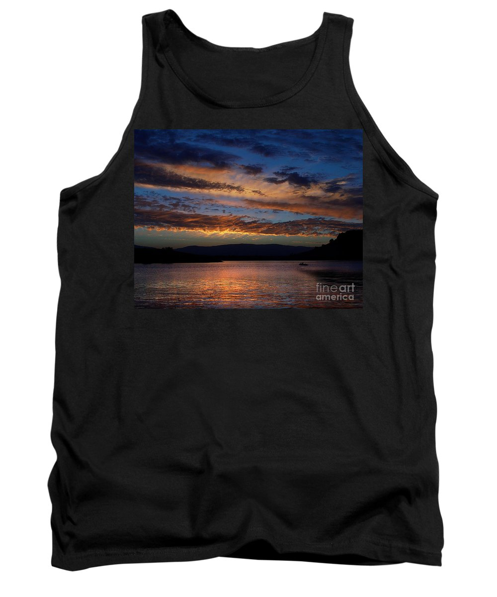 Black Butte Sunset Tank Top featuring the photograph Black Butte Sunset by Peter Piatt