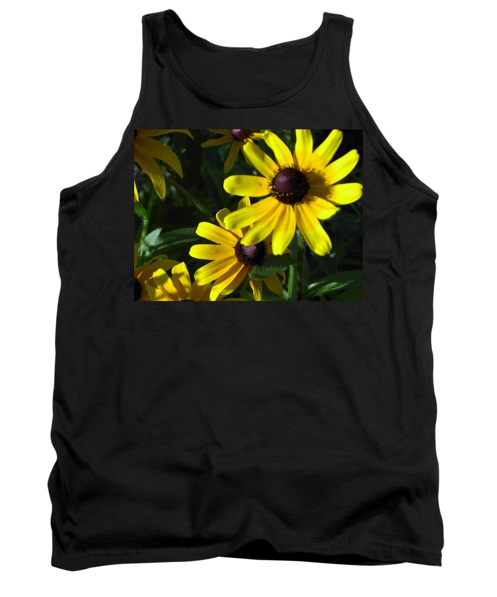 Charity Tank Top featuring the photograph Black Eyed Susan by Mary-Lee Sanders
