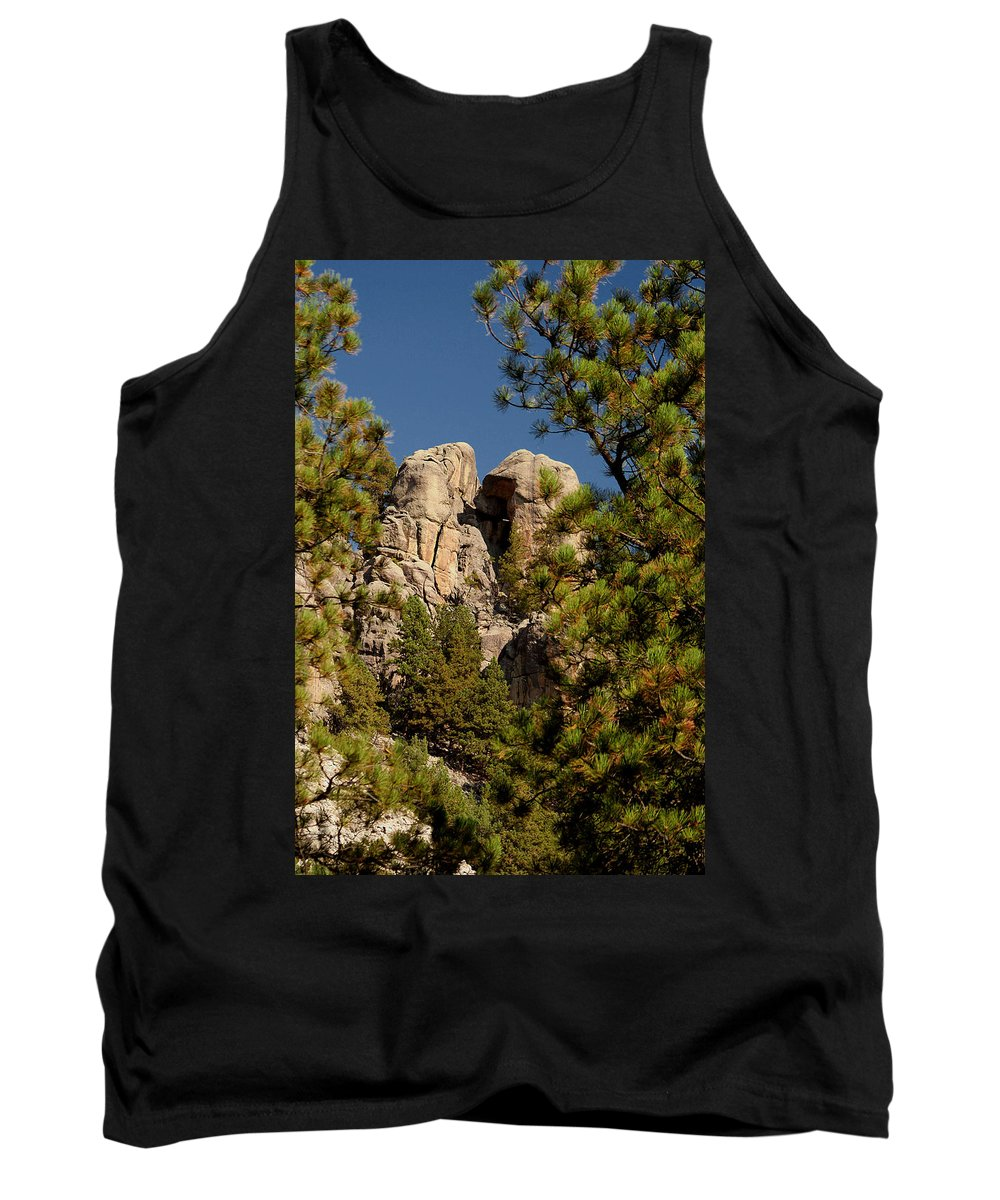 Attraction Tank Top featuring the photograph Black Hills Rock Feature by Mike Oistad