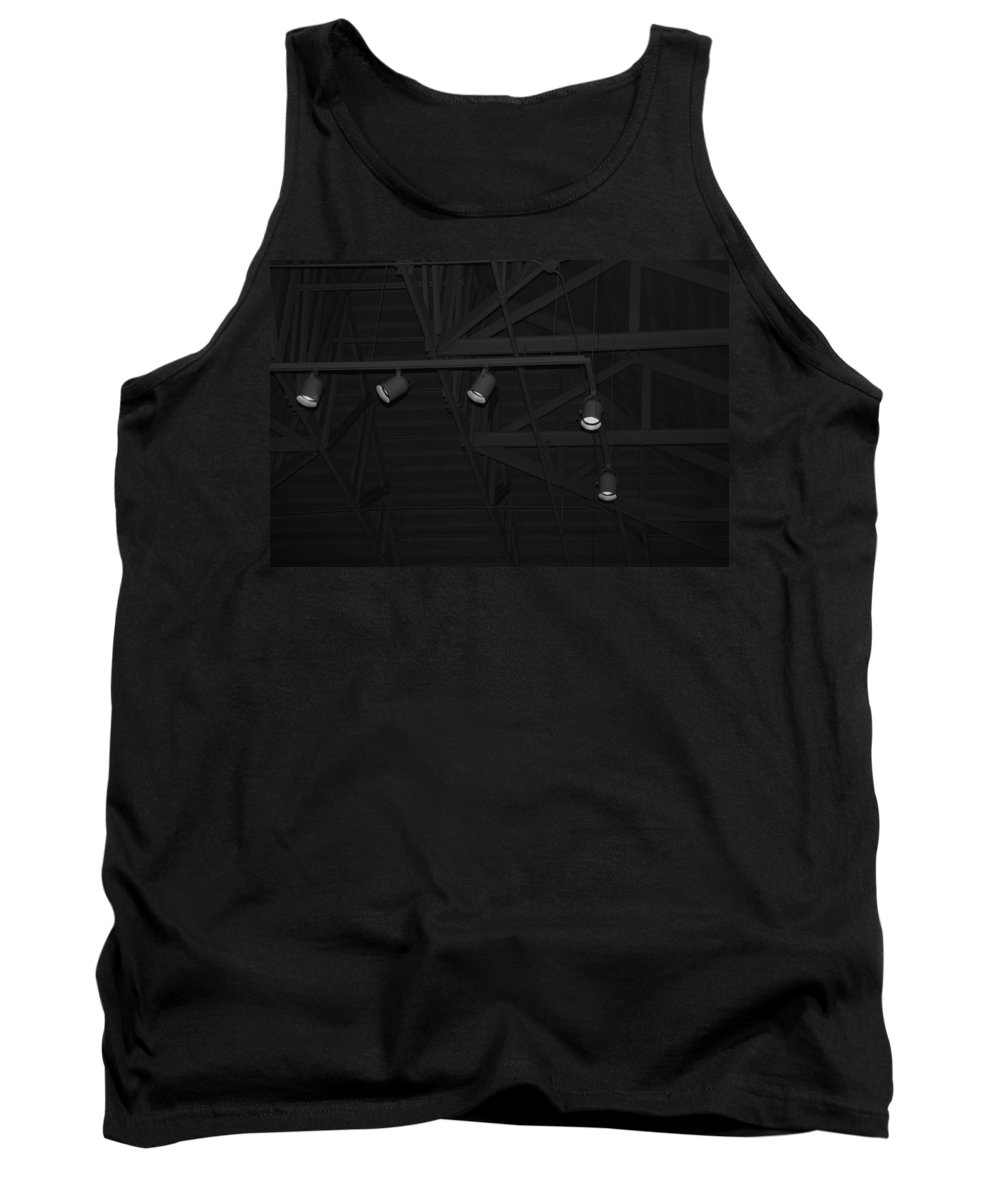 Black And White Tank Top featuring the photograph Black Lights by Rob Hans