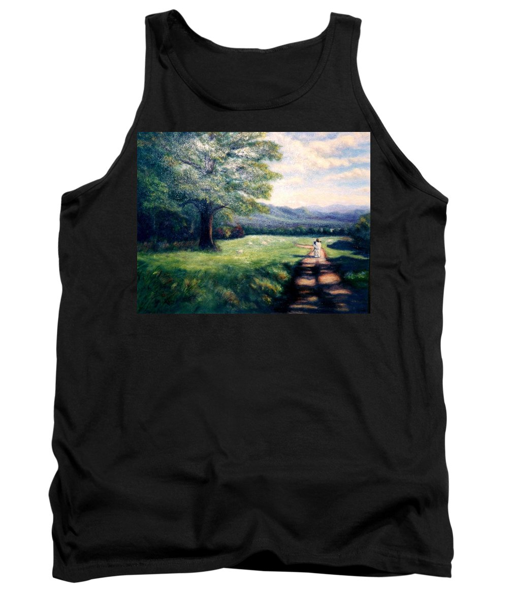 Christian Tank Top featuring the painting Black Sheep by Gail Kirtz