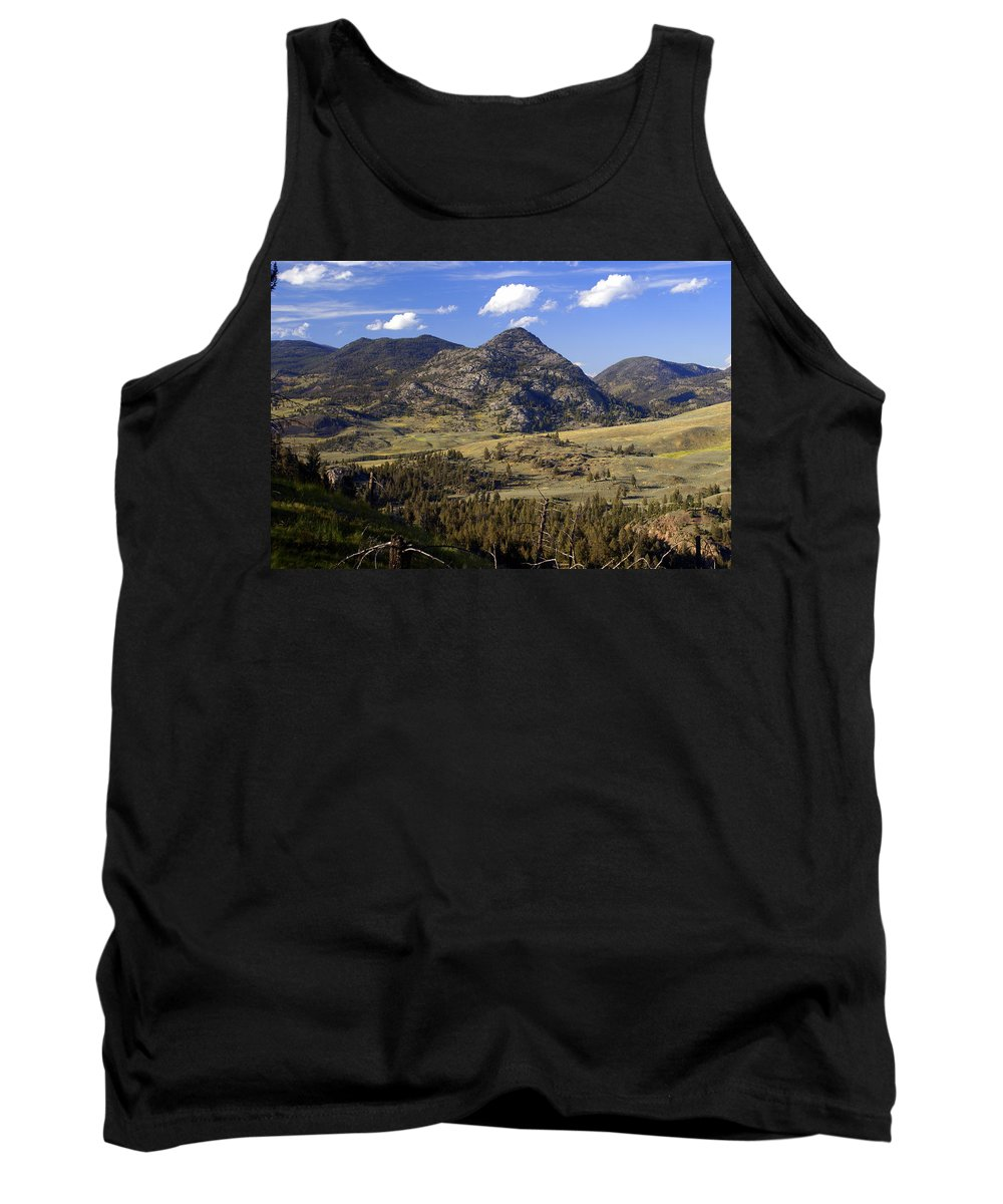 Yellowstone National Park Tank Top featuring the photograph Blacktail Road Landscape 2 by Marty Koch