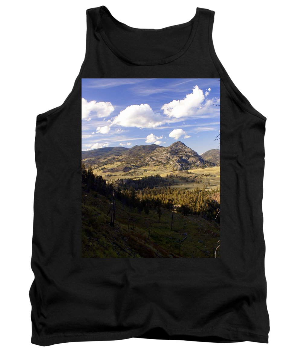 Yellowstone National Park Tank Top featuring the photograph Blacktail Road Landscape by Marty Koch