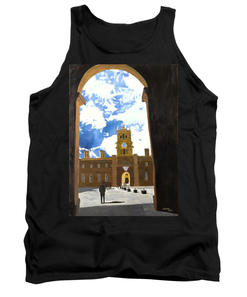 Churchill Tank Top featuring the painting Blenheim Palace England by Avi Lehrer