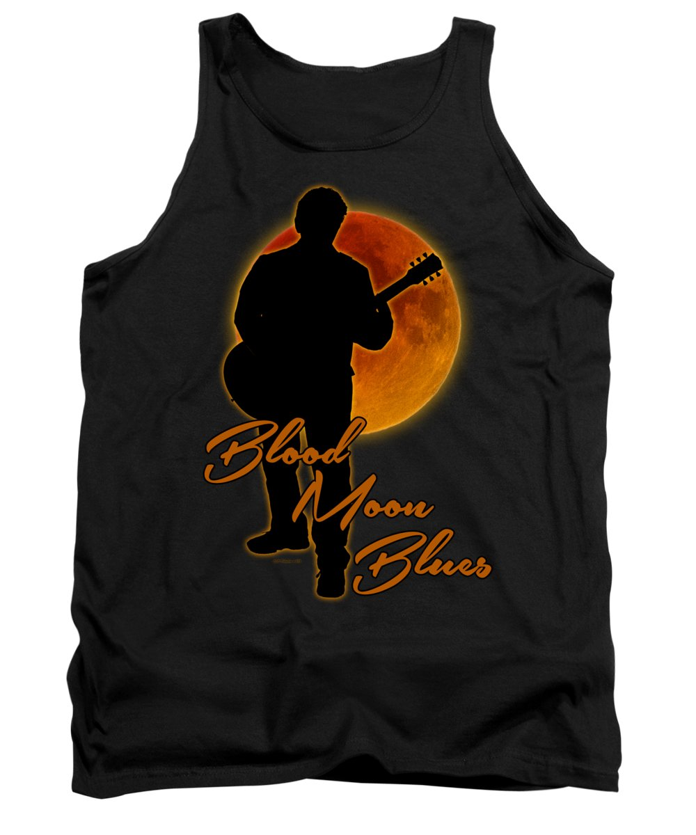 Blues Tank Top featuring the photograph Blood Moon Blues T Shirt by WB Johnston