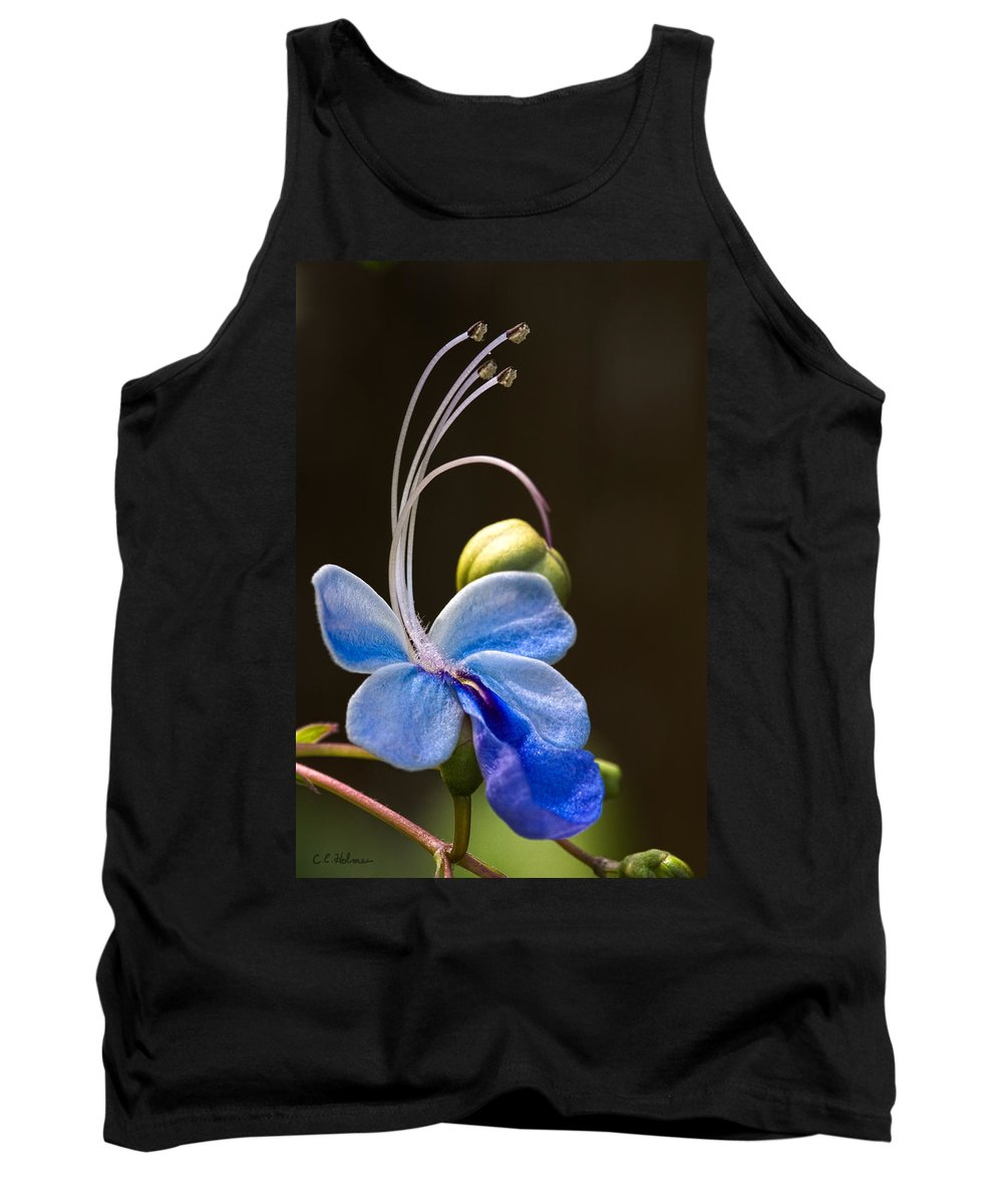 Flower Tank Top featuring the photograph Blooming Butterfly by Christopher Holmes