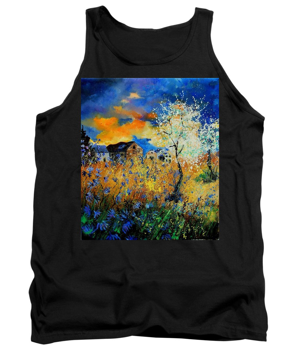 Poppies Tank Top featuring the painting Blooming Trees by Pol Ledent
