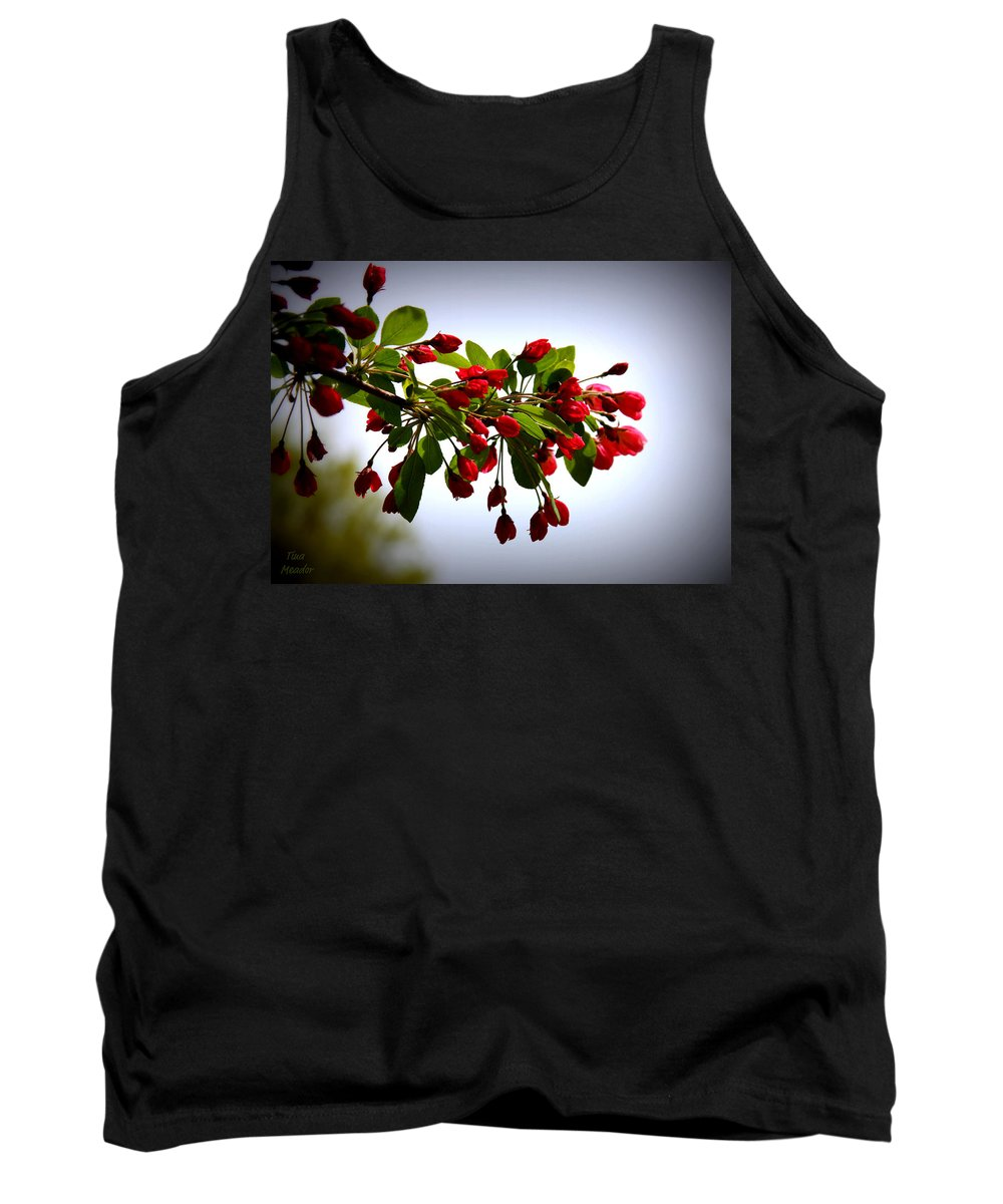 Blossoms Tank Top featuring the digital art Blossoms by Tina Meador