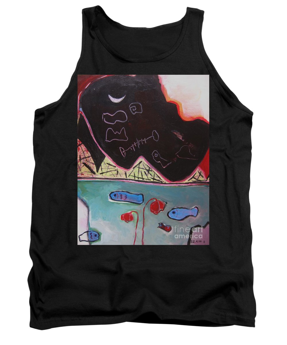 Blow Me Down Painting Tank Top featuring the painting Blow Me Down11 by Seon-Jeong Kim