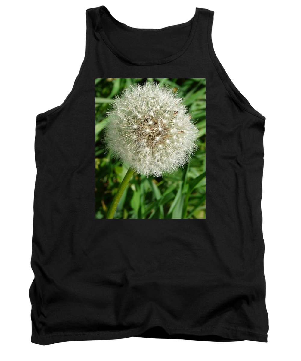 Blowball Tank Top featuring the photograph Blowball 1 by Valerie Ornstein