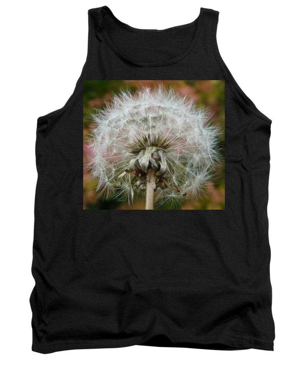 Blowball Tank Top featuring the photograph Blowball 2 by Valerie Ornstein
