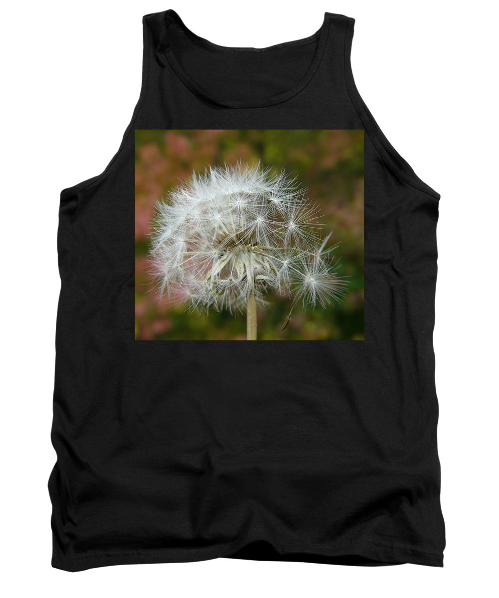 Blowball Tank Top featuring the photograph Blowball 3 by Valerie Ornstein