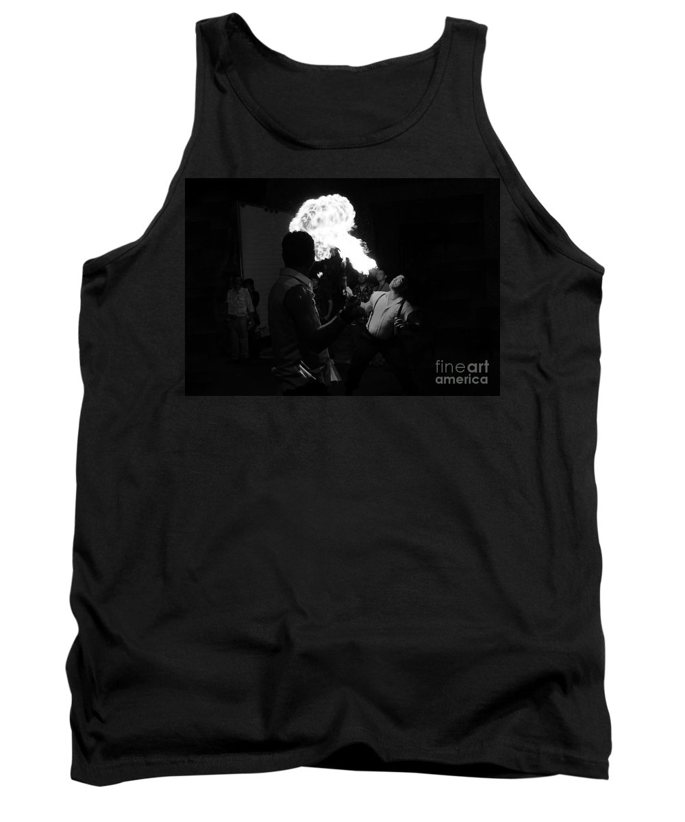 Fire Tank Top featuring the photograph Blowing Fire by David Lee Thompson