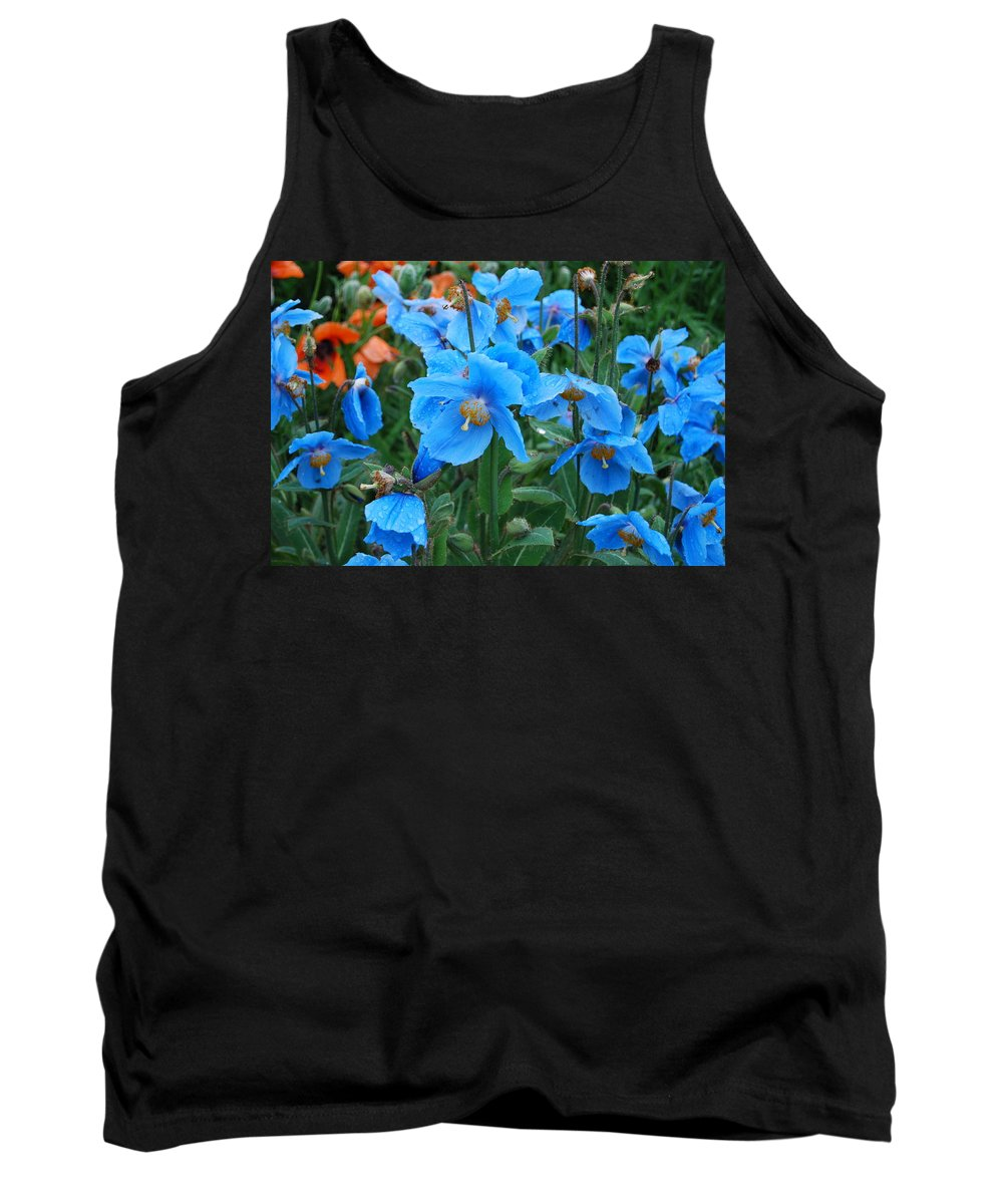 Blue Tank Top featuring the photograph Blue After The Rain by Kristen Bird