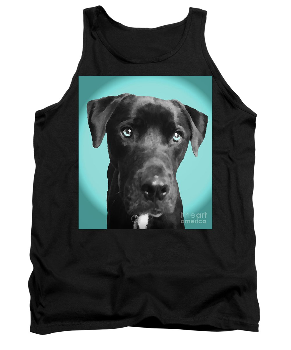 dog Art Tank Top featuring the photograph Blue by Amanda Barcon