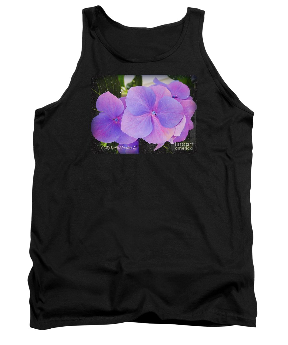 Flowers Tank Top featuring the photograph Blue Beauty by MaryLee Parker