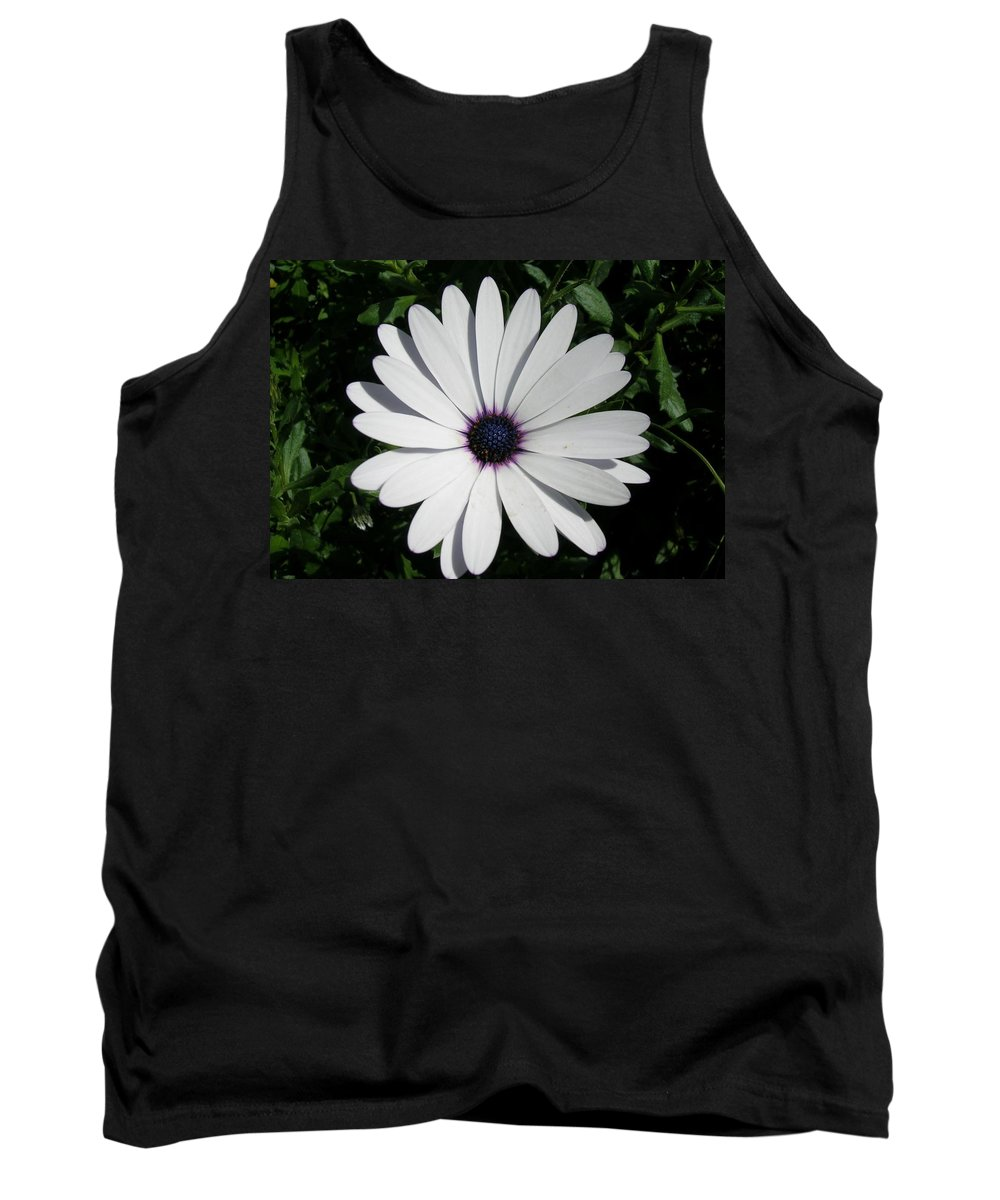 Daisy Tank Top featuring the photograph Blue Center Daisy by Valerie Ornstein