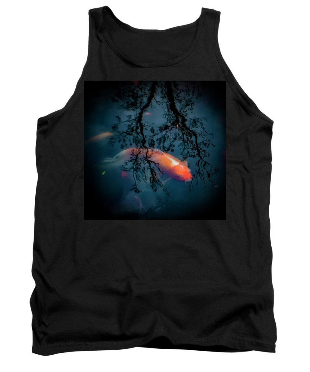 Koi Tank Top featuring the photograph Blue Dreams by Esther Kather