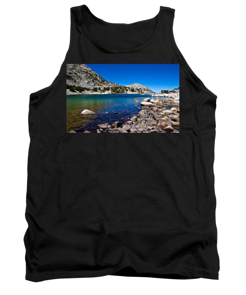 Mountain Lake Tank Top featuring the photograph Blue Green Treasure Lake by Chris Brannen