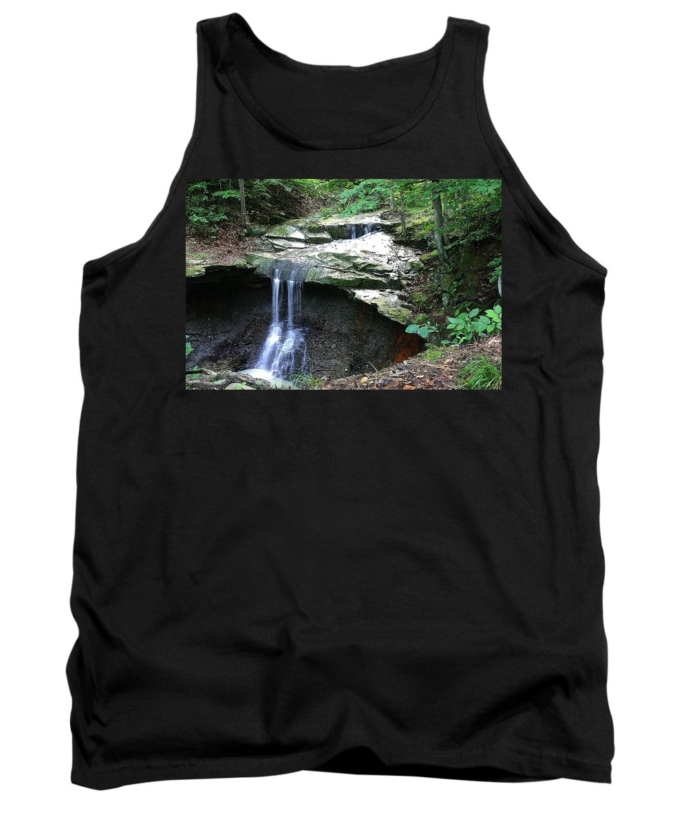 Waterfall. Water Tank Top featuring the photograph Blue Hen Falls by Nelson Strong