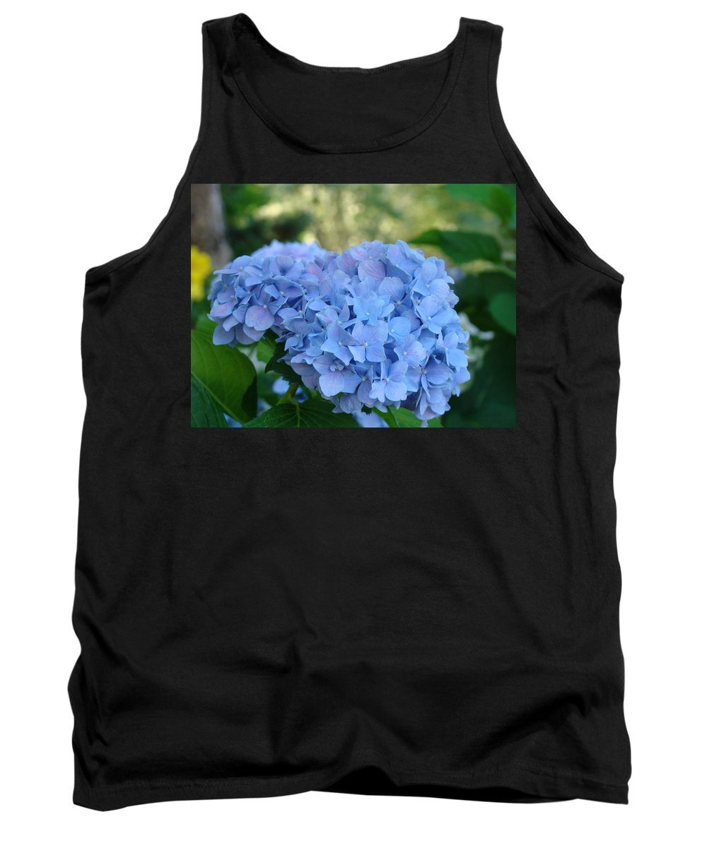 Hydrangea Tank Top featuring the photograph Blue Hydrangea Flower Art Prints Baslee Troutman by Baslee Troutman