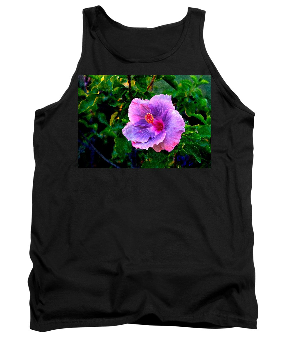 Flower Tank Top featuring the photograph Blue Moon Hibiscus by Steve Karol