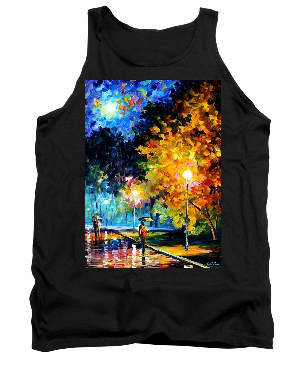 Afremov Tank Top featuring the painting Blue Moon by Leonid Afremov